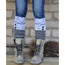 White boot socks lacy