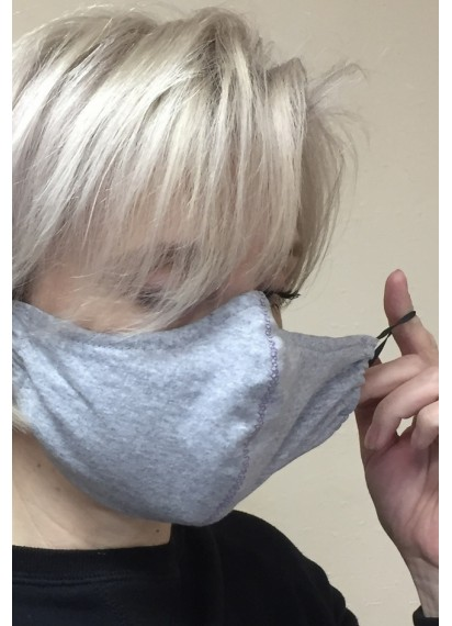Gray Black Reversible & Reusable Mask Outdoor Warm Washable Face Mask Black MEN