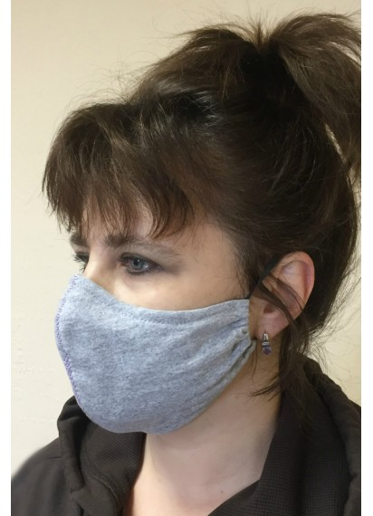 100% Cotton Reusable Two-layer Face Mask With wire Nose Clip and  Filter Pocket - breathable - Hand made