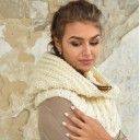 Chunky hooded Cowl Scarf hand Knitted Snood Oversized