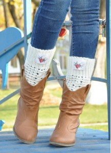 Monogrammed Boot cuffs Personalized Gift Personalized Leg Warmers Monogrammed Boot Socks