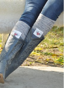 Lace personalized boot socks Monogrammed
